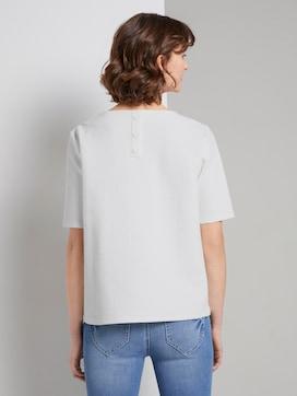 Strukturiertes Kurzarm-Sweatshirt - 2 - TOM TAILOR
