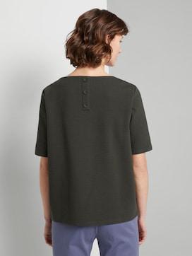 Textured short-sleeved sweatshirt - 2 - TOM TAILOR