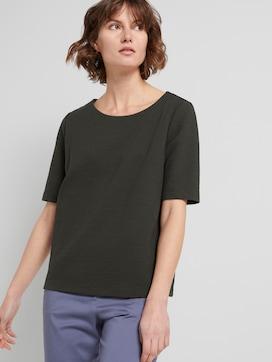 Textured short-sleeved sweatshirt - 5 - TOM TAILOR