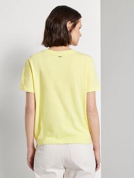 Lockeres T-Shirt mit Knotendetail - 2 - TOM TAILOR Denim
