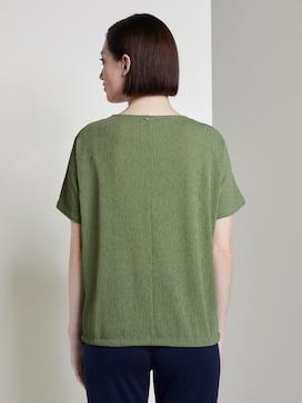 Strukturiertes T-Shirt mit V-Ausschnitt - 2 - TOM TAILOR Denim