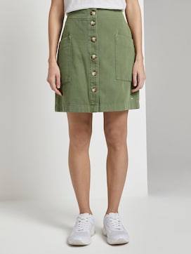 Utility mini skirt with a button tab - 1 - TOM TAILOR Denim