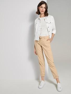 Slanke chino broek met elastische tailleband - 3 - TOM TAILOR