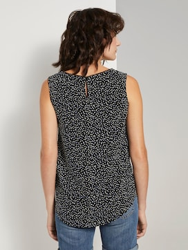 Flowing blouse sleeveless - 2 - TOM TAILOR