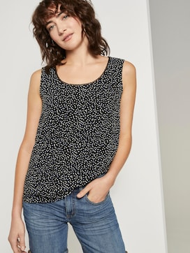 Flowing blouse sleeveless - 5 - TOM TAILOR