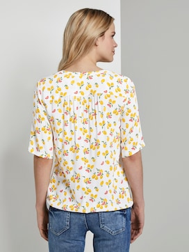 Henley blouse with an elastic waistband - 2 - TOM TAILOR