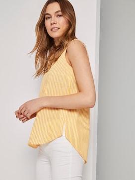 Mouwloos overhemd met streeppatroon - 5 - TOM TAILOR