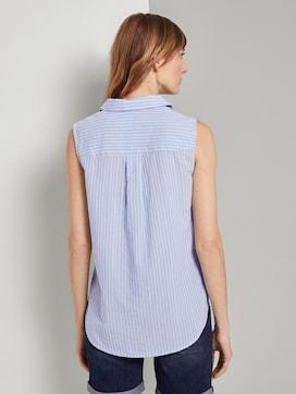 Mouwloos overhemd met streeppatroon - 2 - TOM TAILOR
