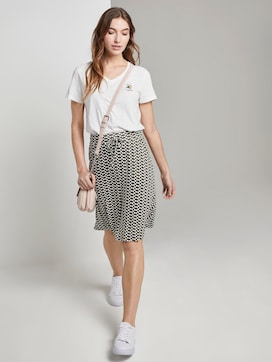 Printed Jersey mini skirt - 3 - TOM TAILOR