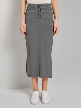 Jersey maxi skirt with side slits - 1 - TOM TAILOR