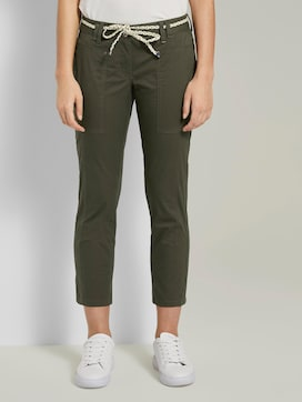 Tapered Relaxed Hose mit Bandgürtel - 1 - TOM TAILOR