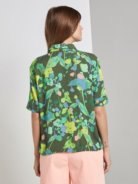 Short-sleeved blouse with a floral print - 2 - TOM TAILOR Denim
