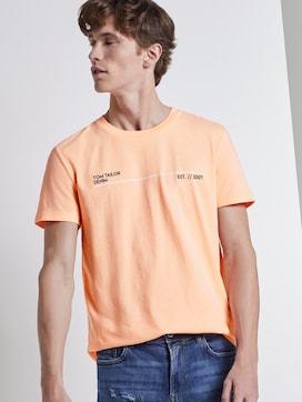 Print T-Shirt mit Bio-Baumwolle - 5 - TOM TAILOR Denim