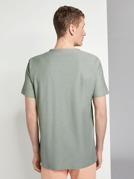 Basic T-Shirt mit Streifenstruktur - 2 - TOM TAILOR Denim