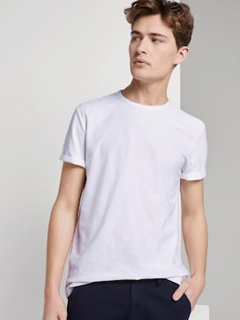 Basic T-Shirt mit Streifenstruktur - 5 - TOM TAILOR Denim