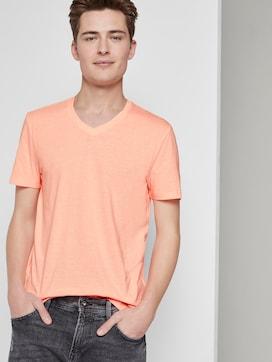 Fein gestreiftes T-Shirt mit V-Ausschnitt - 5 - TOM TAILOR Denim