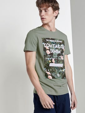 T-Shirt mit tropischem Brustprint - 5 - TOM TAILOR Denim