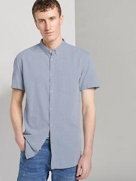Strukturiertes Kurzarmhemd mit Brusttasche - 5 - TOM TAILOR Denim
