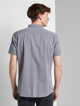 Textured short-sleeved shirt with a chest pocket - 2 - TOM TAILOR Denim