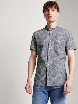 Patterned short-sleeved shirt with a Mao collar - 5 - TOM TAILOR Denim