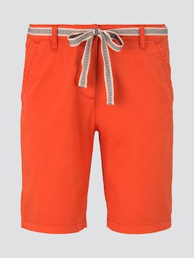 Relaxed Chino Bermuda Shorts mit Stoffgürtel - 7 - TOM TAILOR