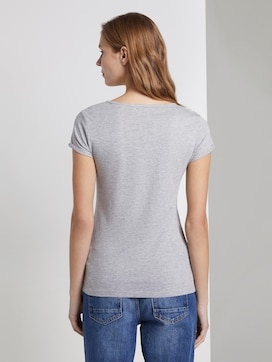 Basic T-shirt with embroidery - 2 - TOM TAILOR Denim