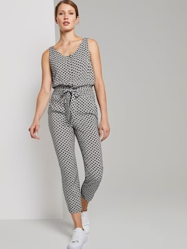 Sleeveless jumpsuit with an elastic waistband - 5 - TOM TAILOR