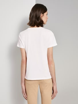 Basic T-shirt with a small print - 2 - TOM TAILOR