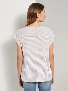 Gestreept T-shirt met korte splitten - 2 - TOM TAILOR
