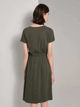 Strukturiertes Kleid mit Tunnelzug - 2 - TOM TAILOR