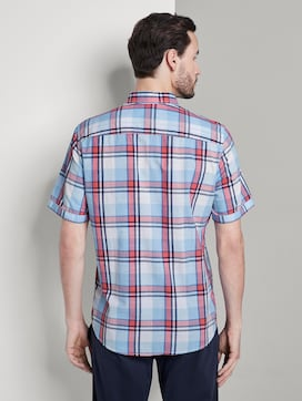 Checked short-sleeved shirt with a chest pocket - 2 - TOM TAILOR