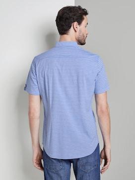 Gestreiftes Kurzarmhemd mit Brusttasche - 2 - TOM TAILOR