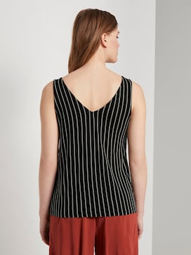 Striped top with a button tab - 2 - TOM TAILOR Denim