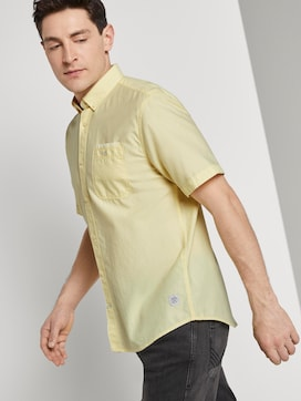 T-shirt met twill look - 5 - TOM TAILOR