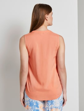 Sleeveless tunic with a Henley neckline - 2 - TOM TAILOR Denim