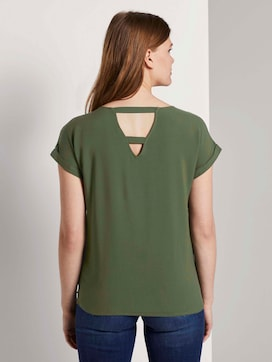 Short-sleeved tunic blouse with back details - 2 - TOM TAILOR Denim