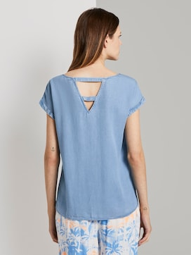 Tuniek Blouse met korte mouwen in Denim Look - 2 - TOM TAILOR Denim