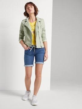 Alexa slim bermuda denim shorts - 3 - TOM TAILOR
