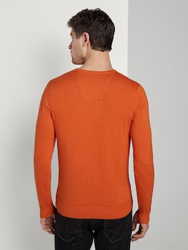 Basic knitted sweater with a V-neckline - 2 - TOM TAILOR
