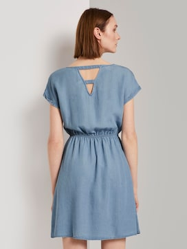 Mini dress with a back cut-out in a denim look - 2 - TOM TAILOR Denim
