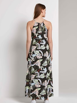 Halter maxi dress with a tropical print - 2 - TOM TAILOR Denim