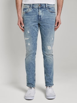 Josh Regular Slim jeans met Offset Coin Pocket - 1 - TOM TAILOR