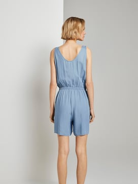 Korte mouwloze jumpsuit in denim look - 2 - TOM TAILOR Denim