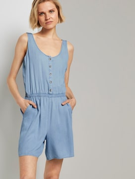 Korte mouwloze jumpsuit in denim look - 5 - TOM TAILOR Denim
