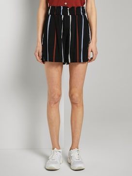 Relaxed shorts met elastische tailleband - 1 - TOM TAILOR Denim