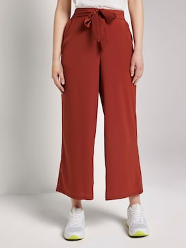 Culotte trousers with a tie belt - 1 - TOM TAILOR Denim