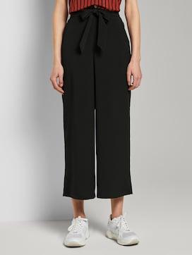 Culotte broek met strikriem - 1 - TOM TAILOR Denim