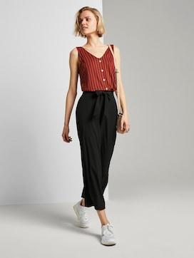 Culotte broek met strikriem - 3 - TOM TAILOR Denim