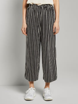Striped culotte trousers with an elastic waistband - 1 - TOM TAILOR Denim