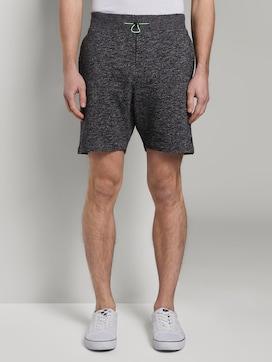 Sweat-Shorts in Melange-Optik - 1 - TOM TAILOR Denim